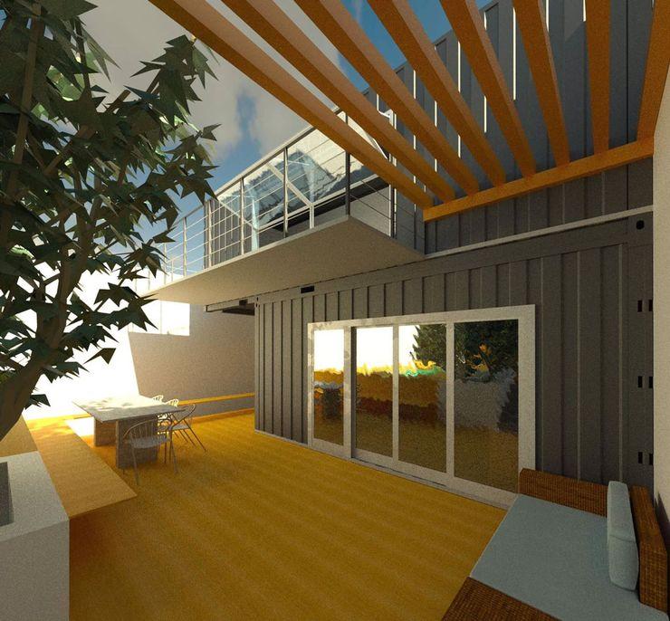 Oria Arquitetura & Construções Prefabricated home Iron/Steel Metallic/Silver