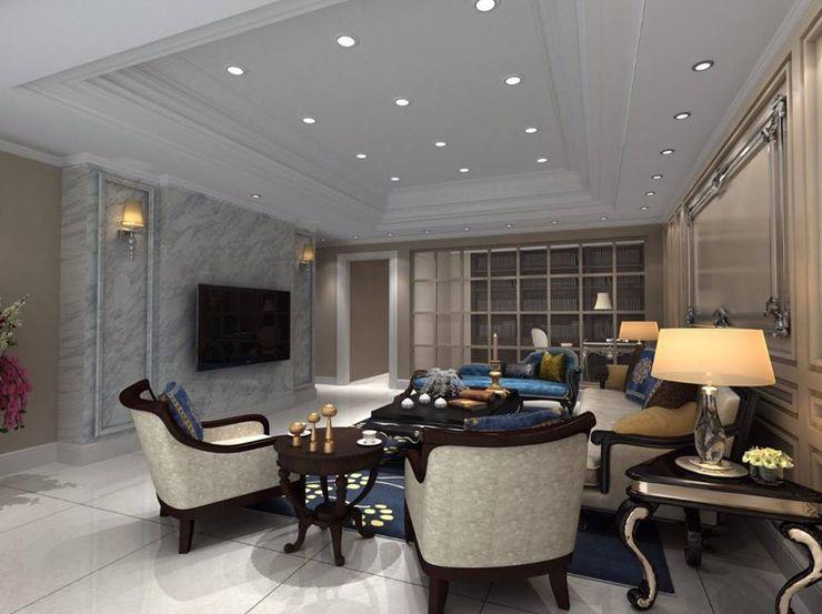 客廳設計 麥斯迪設計 Living room Marble White