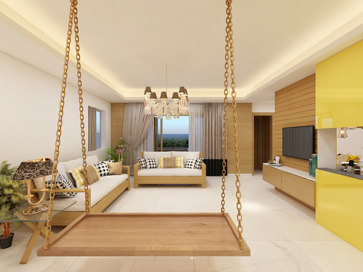 Residential Project Designs Combine Modern living room
