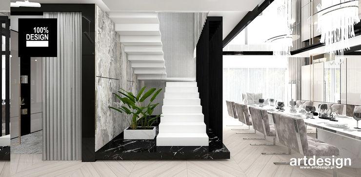 projekt nowoczesnych schodów ARTDESIGN architektura wnętrz Schody