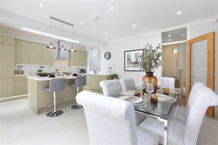 Design and Build London Renovation Modern dining room Concrete White