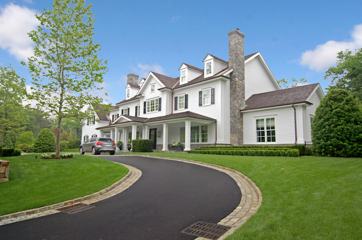 Custom Colonial, Greenwich, CT by DeMotte Architects DeMotte Architects, P.C. خانه ها