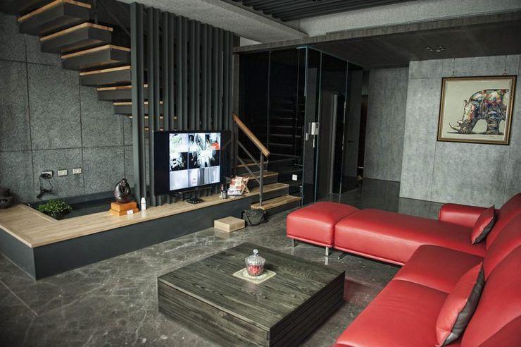 一樓客廳 勻境設計 Unispace Designs 现代客厅設計點子、靈感 & 圖片 大理石