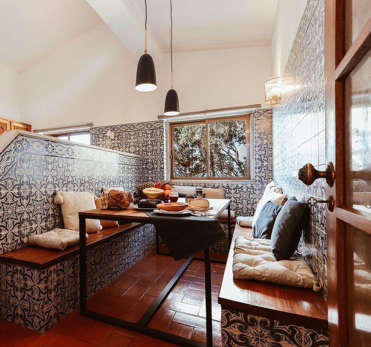 Cozinha Rafaela Fraga Brás Design de Interiores & Homestyling Cozinhas rústicas Azulejo Azul