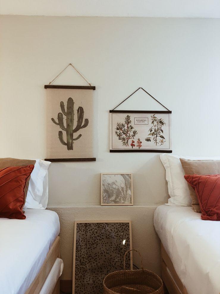 Quarto Rafaela Fraga Brás Design de Interiores & Homestyling Quartos rústicos Madeira Laranja