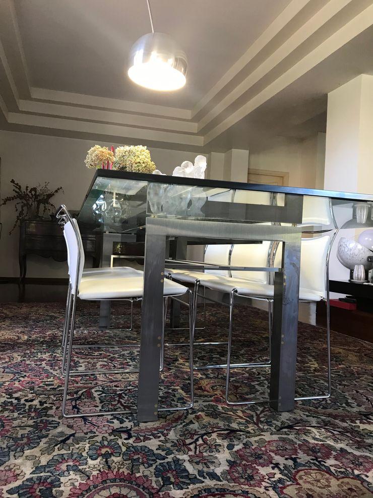 eettafel MEF Architect Eclectische eetkamers Glas Transparant