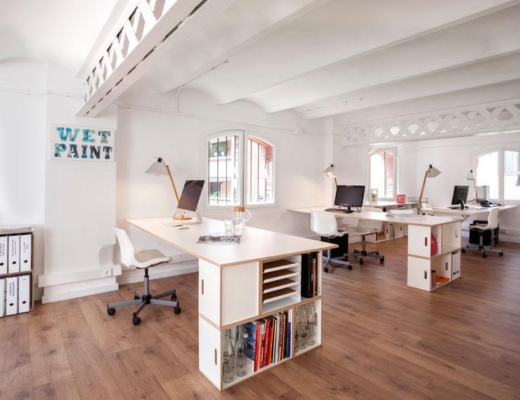 BrickBox - Estanterías Modulares Geschäftsräume & Stores Sperrholz Weiß
