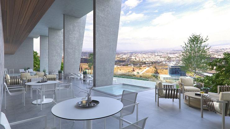 Terraza VillaSi Construcciones Balcones y terrazas modernos