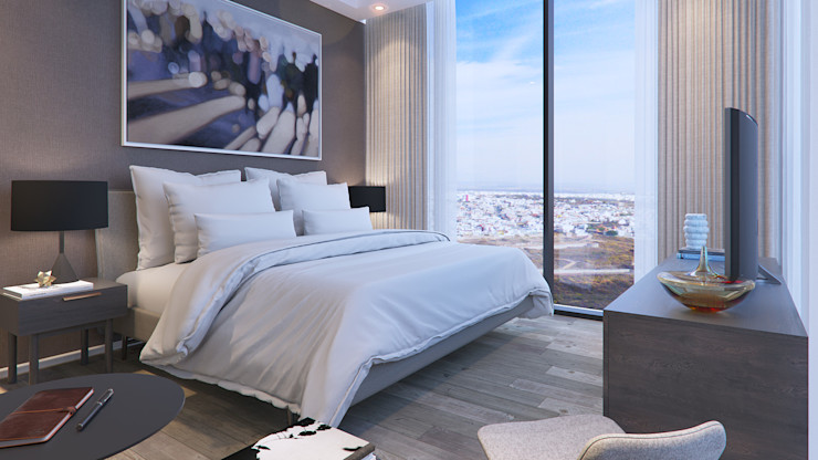 Recámara principal VillaSi Construcciones Dormitorios modernos