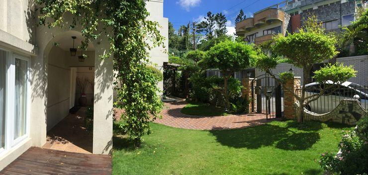 一入家門先穿過寧靜舒適的庭園,洗去在外的身心疲憊 大地工房景觀公司 Front yard
