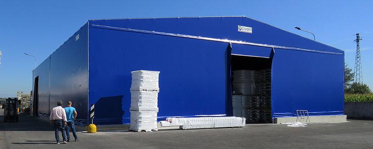 Capannoni mobili PVC Capannoni mobili e Coperture Civert Garage/Rimessa in stile industriale Ferro / Acciaio