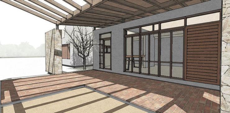 Diseño de Casa a dos Aguas en Valle Alegre por 1.61 Arquitectos 1.61arquitectos Casas unifamiliares