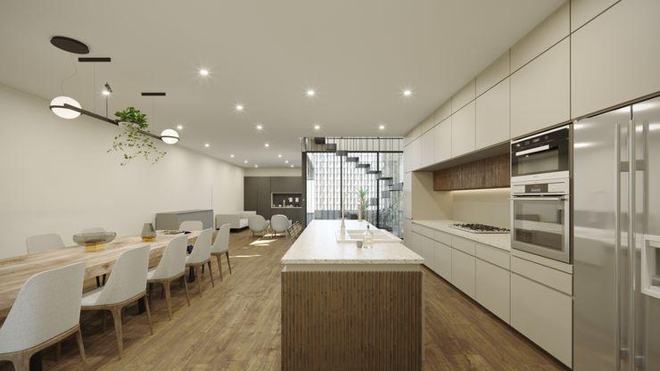 TW/A Architectural Group CucinaTavoli & Sedie Marmo Bianco