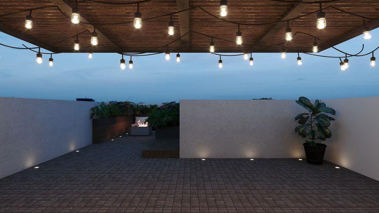 TW/A Architectural Group Balcone, Veranda & TerrazzoAccessori & Decorazioni Legno Bianco