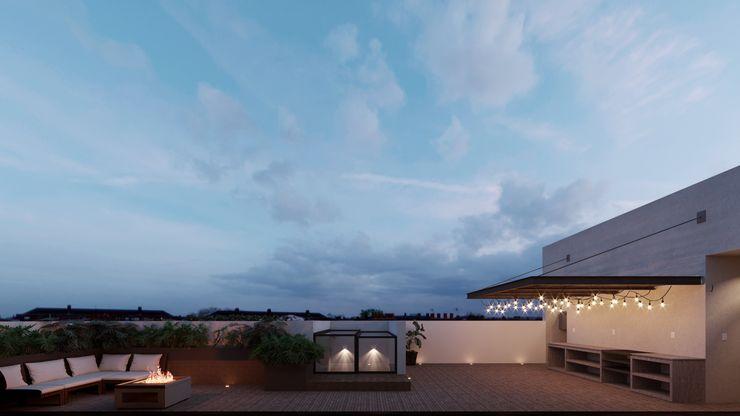 TW/A Architectural Group Balcone, Veranda & TerrazzoAccessori & Decorazioni Legno Marrone