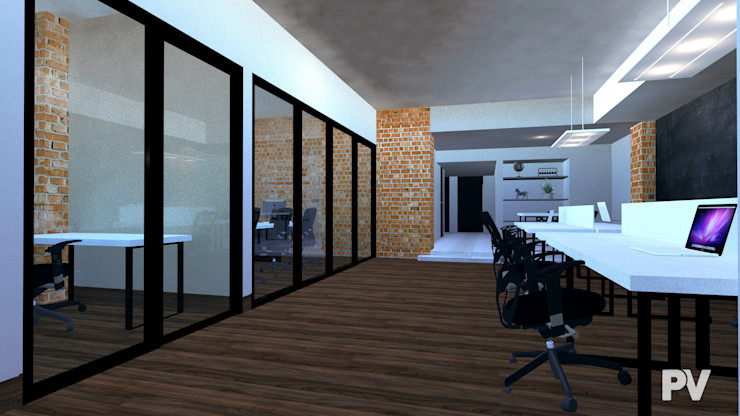 Oficinas Morelos VillaSi Construcciones Estudios y despachos modernos