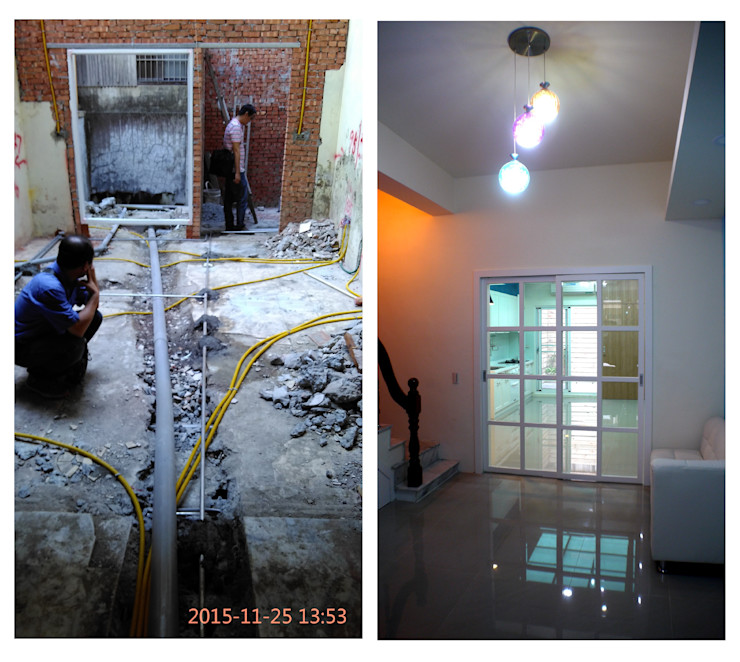 廚房位於一樓,還能通往後院 奕禾軒 空間規劃 /工程設計 Small kitchens