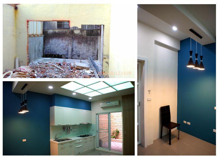 天窗使廚房光線充足 奕禾軒 空間規劃 /工程設計 Small kitchens