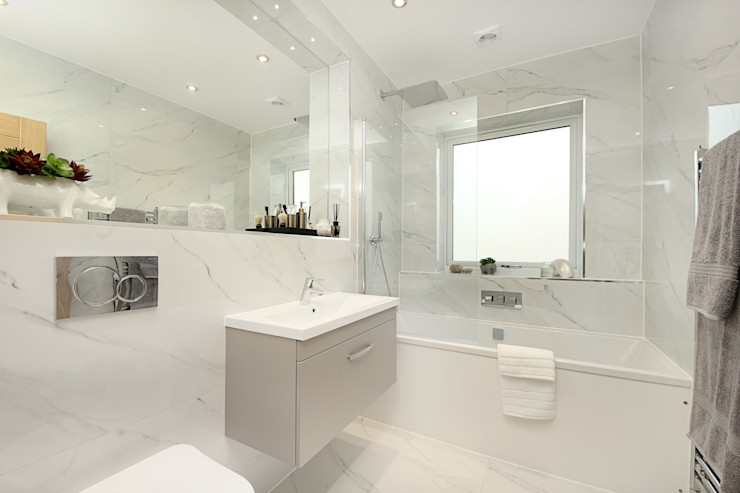 Finchley Central New Images Architects Modern bathroom