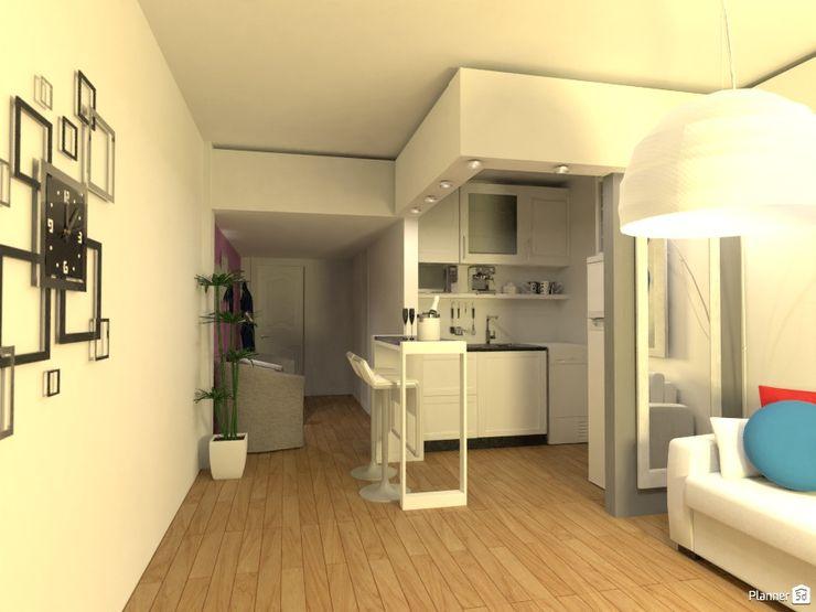 Monoambiente - Recoleta Arquimundo 3g - Diseño de Interiores - Ciudad de Buenos Aires Cocinas de estilo moderno