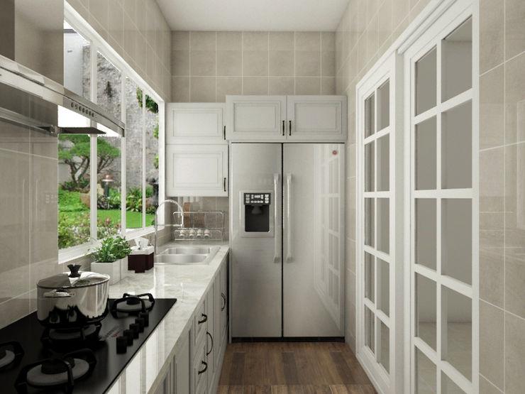Kitchen Set PT. Leeyaqat Karya Pratama Dapur Klasik Grey