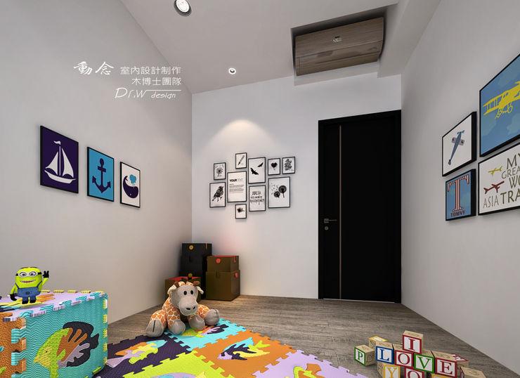 兒童房 木博士團隊/動念室內設計制作 嬰兒房/兒童房 複合木地板 White