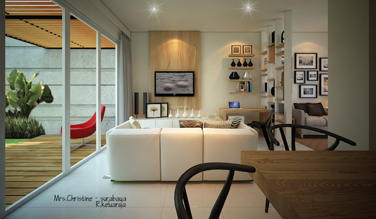 CH HOUSE midun and partners architect Ruang Keluarga Modern