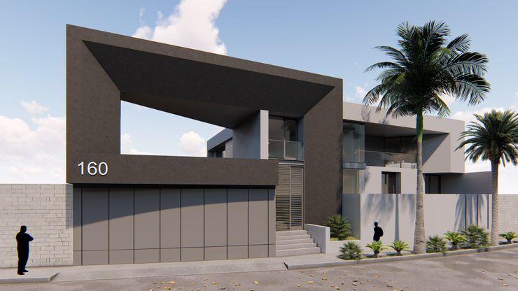 FACHADA PRINCIPAL GRUPO VOLTA Casas modernas
