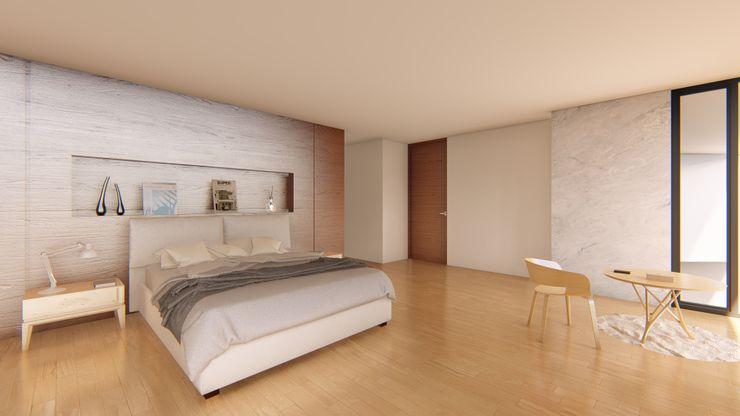 RECAMARA PRINCIPAL GRUPO VOLTA Dormitorios modernos Madera Blanco