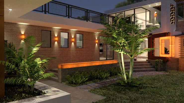 Residencia las Fuentes, Puebla. URBAO Arquitectos Casas unifamiliares Concreto Blanco