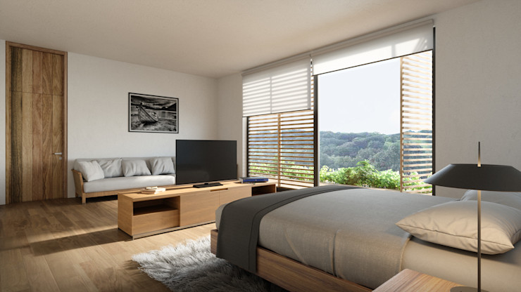 HAC Arquitectura Modern style bedroom