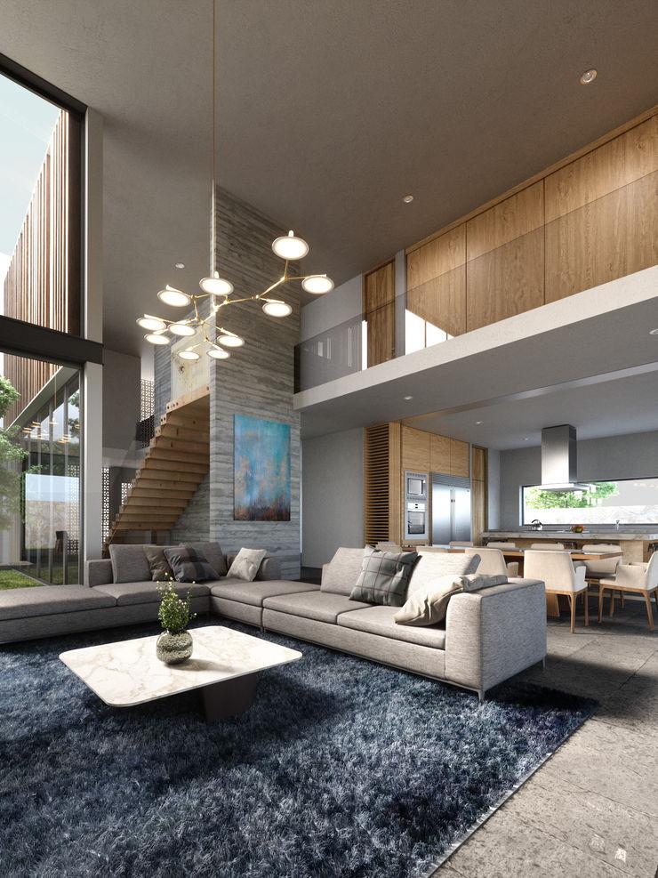 HAC Arquitectura Modern living room