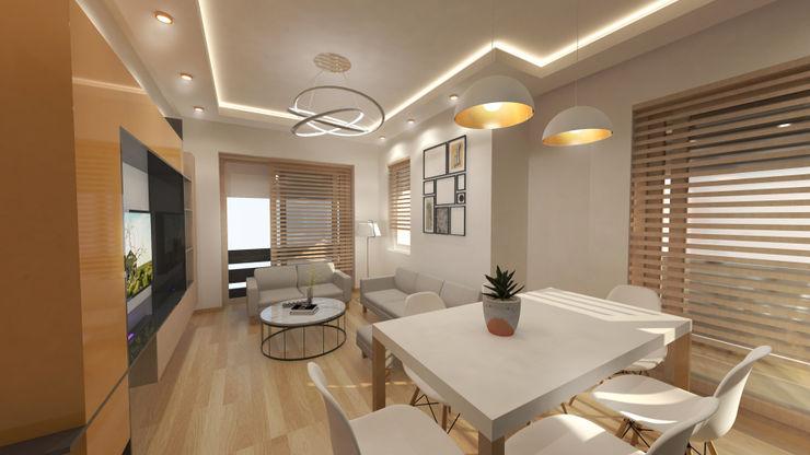 Antalya ev projesi Kreatif çizgi Modern Oturma Odası