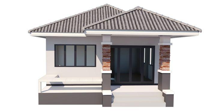 รับสร้าบ้าน ราคา 750,000.-บาท บริษัท เรืองสุวรรณเฮ้าส์ จำกัด บ้านขนาดเล็ก คอนกรีต