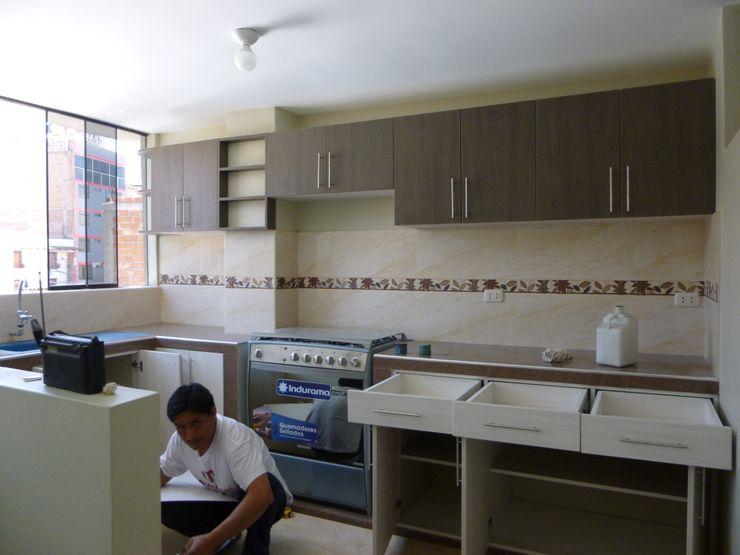 ARDI Arquitectura y servicios Kitchen units Chipboard Multicolored