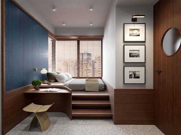 POCKET SQUARE LTD Eclectic style bedroom