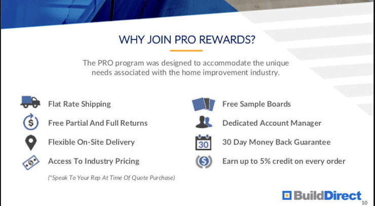 Pro Rewards with BuildDirect BuildDirect Floors