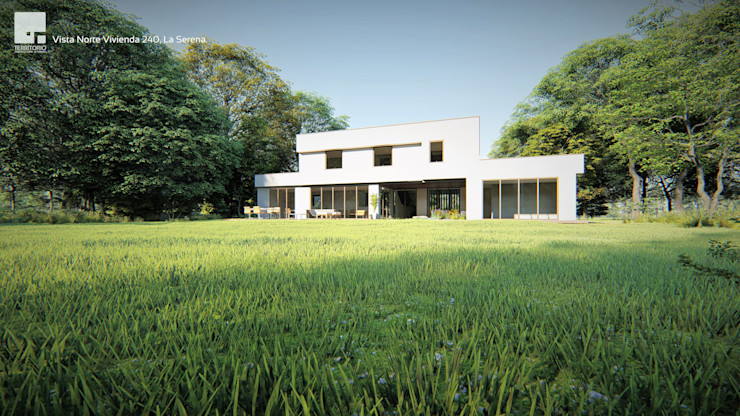 Diseño de casa Prototipo 240 en La Serena Territorio Arquitectura y Construccion - La Serena Casas unifamiliares