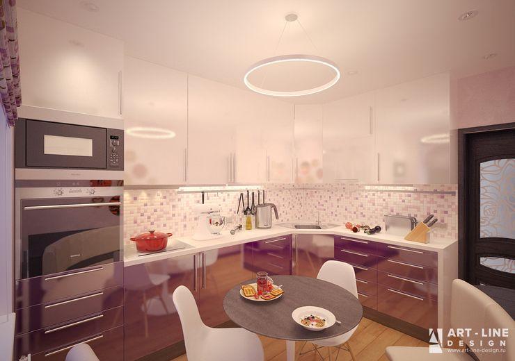 Art-line Design Ausgefallene Küchen Lila/Violett