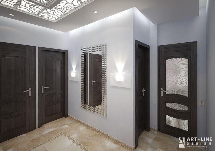Art-line Design Skandinavischer Flur, Diele & Treppenhaus