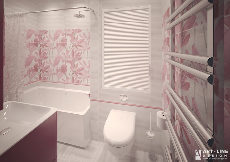 Art-line Design Skandinavische Badezimmer Lila/Violett