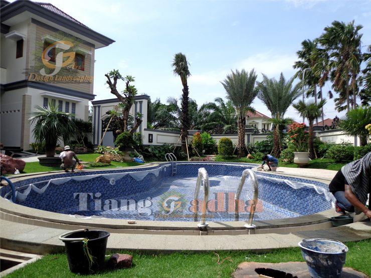 Taman Mediterania Tukang Taman Surabaya - Tianggadha-art Kolam taman Batu Green