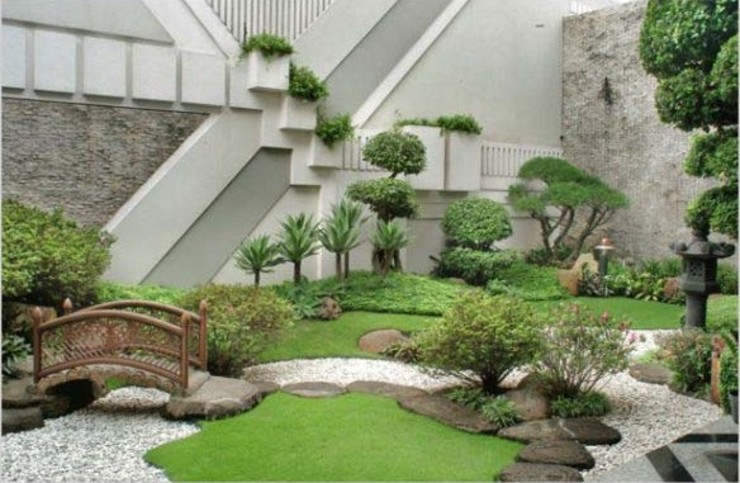 Model Taman Jepang Tukang Taman Surabaya - Tianggadha-art Kolam taman Batu Multicolored