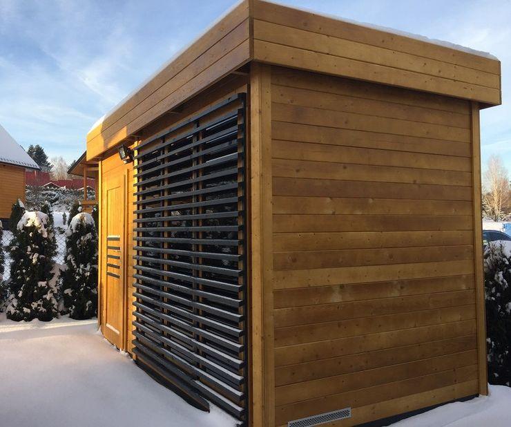 Sauna zewnętrzna Azalia Ogrodosfera Sauna Drewno