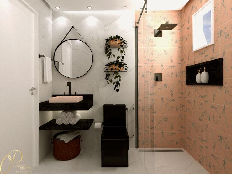 Caroline Peixoto Interiores Baños de estilo moderno Rosa