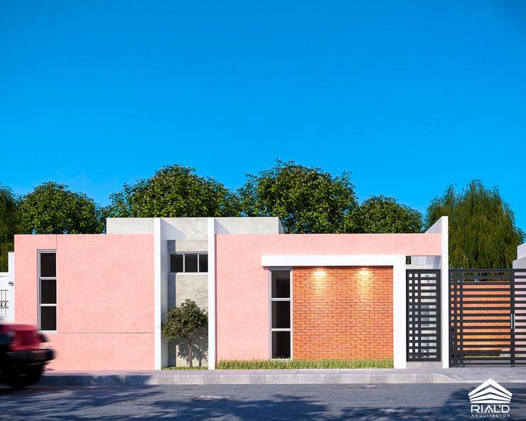CASA VÍAS RIALD arquitectos Casas pequeñas Ladrillos Blanco