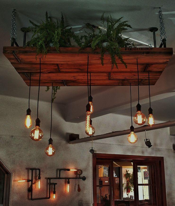 Lamparas Vintage Vieja Eddie Office spaces & stores Wood Multicolored