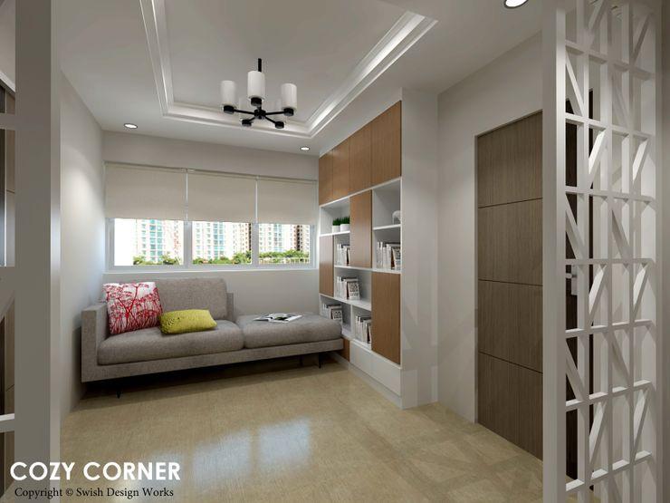 Swish Design Works Scandinavian style corridor, hallway& stairs