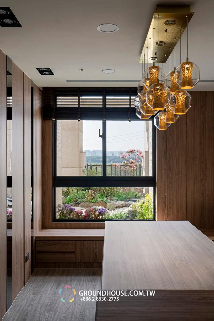 窗外風景 大地工房景觀公司 Tropical style balcony, veranda & terrace