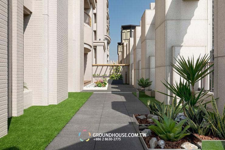 空中花園另一景 大地工房景觀公司 Tropical style balcony, veranda & terrace